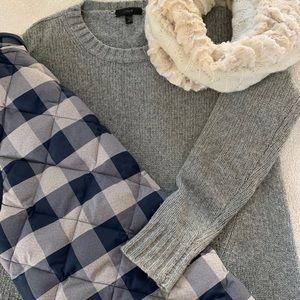 J Crew Retail Tunic Sweater Gray